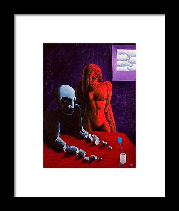 Dies Irae Framed Print featuring the painting Dies Irae by Poul Costinsky
