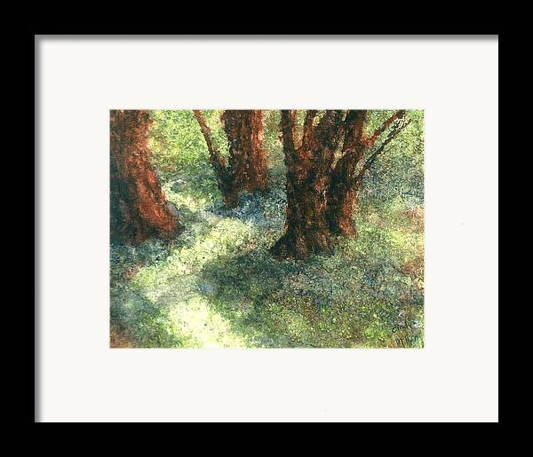 Watercolor Framed Print featuring the painting Difference by Cynthia Ann Swan
