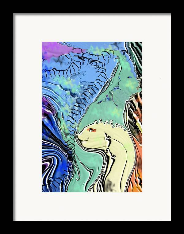 Fantasy Air Framed Print featuring the digital art Different Points Of View by Stephanie H Johnson