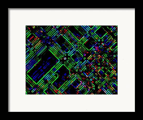 Abstract Framed Print featuring the digital art Diffusion Component by Will Borden