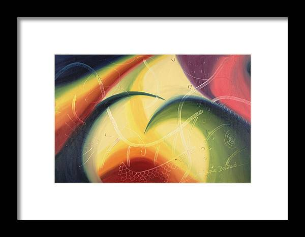 Abstract Framed Print featuring the painting Diffusion Du Centre by Dominique Boutaud