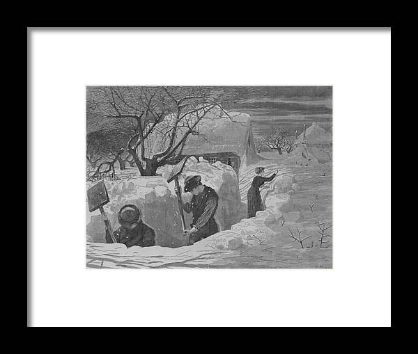 Winslow Homer Framed Print featuring the digital art Digging Out by Newwwman