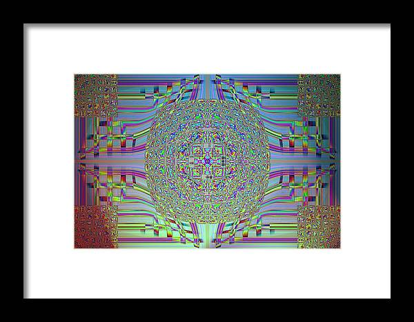 Abstract Digital Art Framed Print featuring the photograph Digital Age by Guillermo Mason