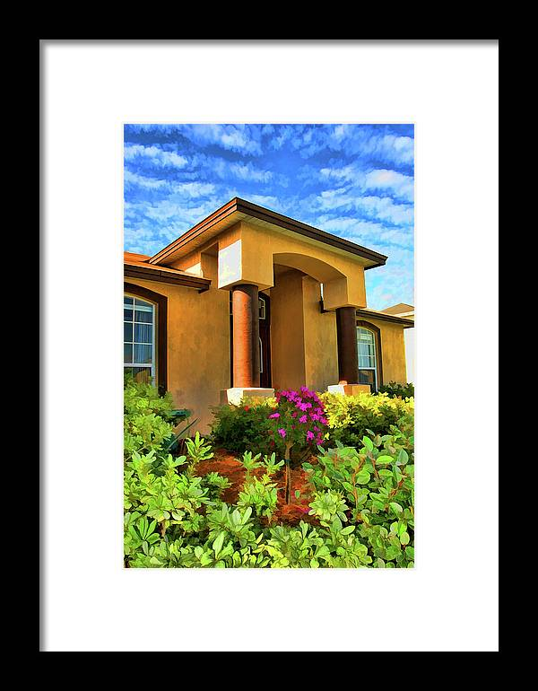Home Framed Print featuring the photograph Digital Art Home by Francesco Roncone
