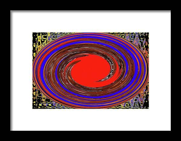 Digital Blue Red Plate Special Framed Print featuring the digital art Digital Blue Red Plate Special by Tom Janca