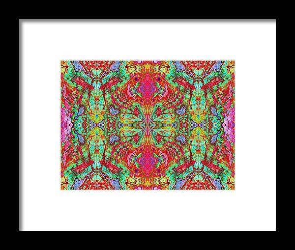 Abstract Digital Art Framed Print featuring the photograph Digital Faces by Guillermo Mason