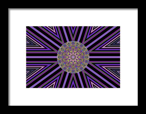 Abstract Digital Art Framed Print featuring the photograph Digital Night by Guillermo Mason