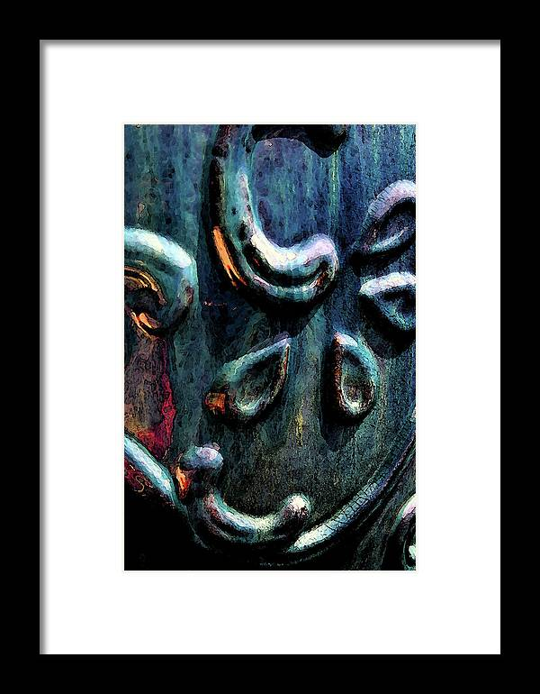 Digital Painting Framed Print featuring the photograph Digital Painting Abstract Blue 2364 Dp_2 by Steven Ward