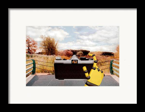 Camera Framed Print featuring the painting Digital Photographer by Peter J Sucy
