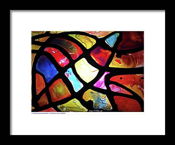 Fine Art Framed Print featuring the painting Digital_leaf Theme by Gary R Caldwell