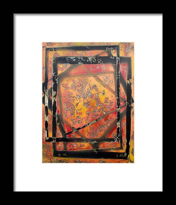 Colorful Framed Print featuring the painting Dimensions by Arlene Wright-Correll