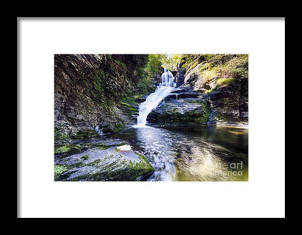 Delaware Township Framed Print featuring the photograph Dingmans Creek Waterfall by George Oze
