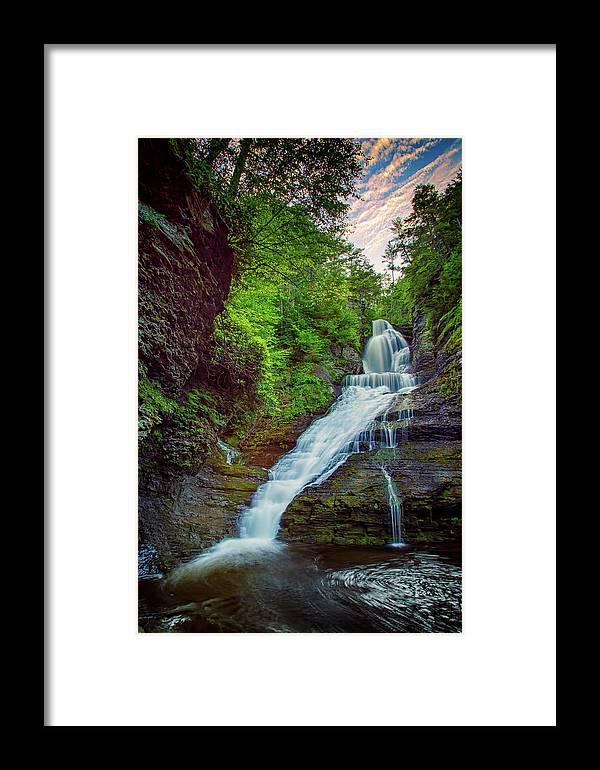 Dingman's Falls Framed Print featuring the photograph Dingmans Falls by Rick Berk