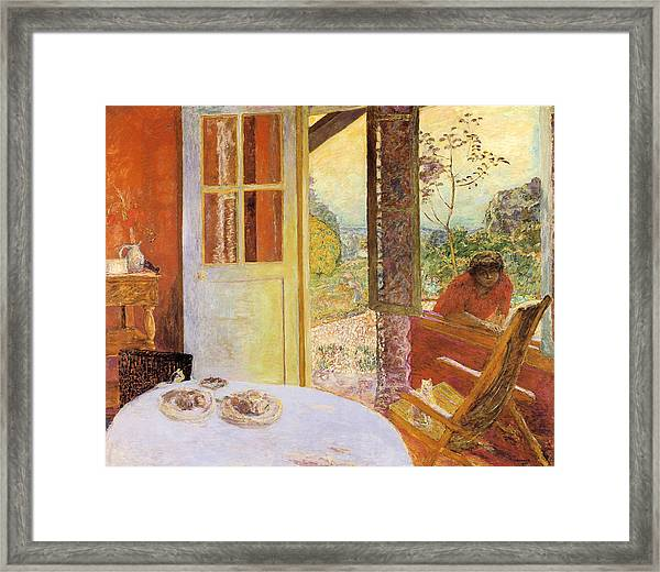 Dining Room In The Country Framed Print By Pierre Bonnard