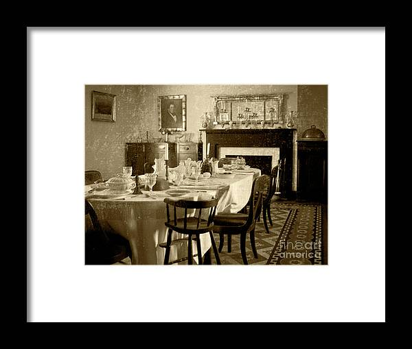 Antebellum Framed Print featuring the photograph Dinner Is ready by Pete Hellmann
