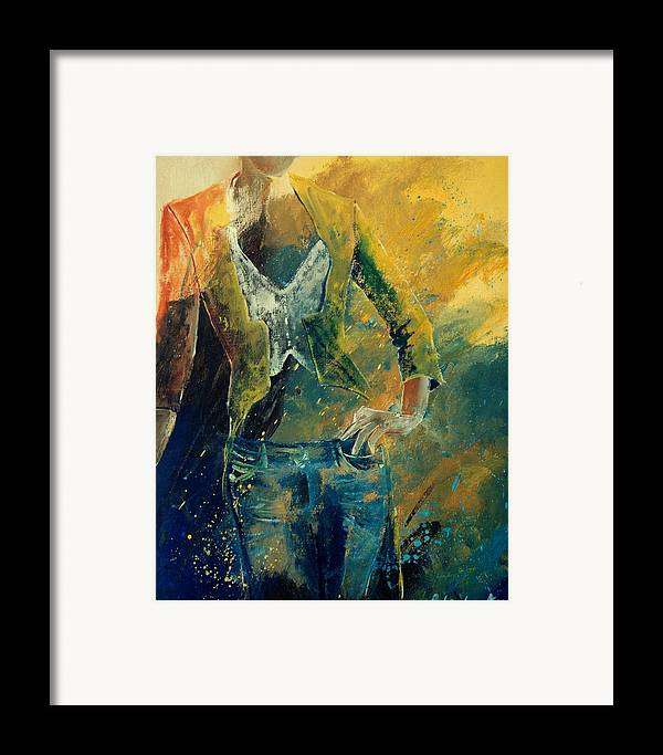 Woman Girl Fashion Framed Print featuring the painting Dinner Jacket by Pol Ledent