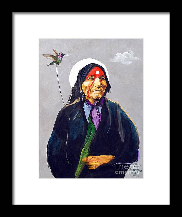 Shaman Framed Print featuring the painting Direct Connection by J W Baker