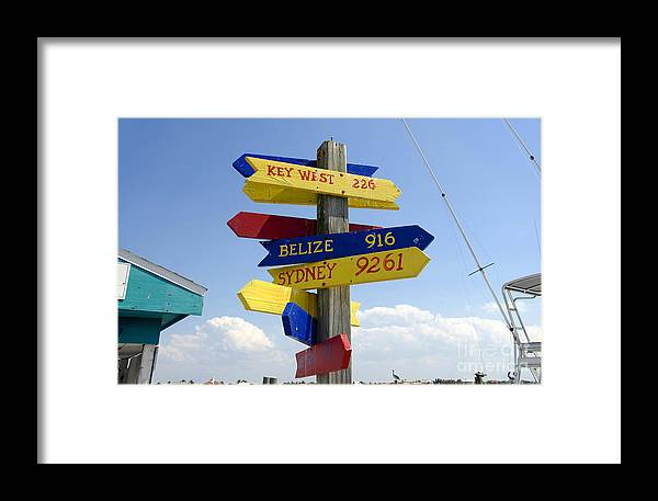 Paradise Framed Print featuring the photograph Directions To Paradise by David Lee Thompson