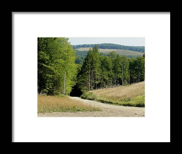 Mountains Framed Print featuring the photograph Dirt Road Through The Mountains by Jeanette Oberholtzer