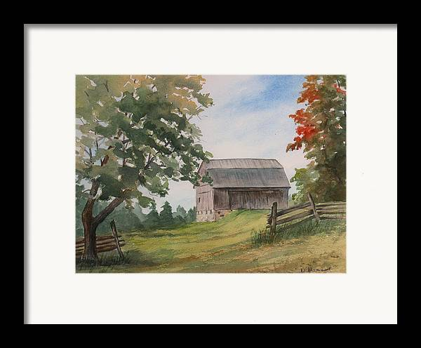 Barn Framed Print featuring the painting Disappearing Heritage by Debbie Homewood