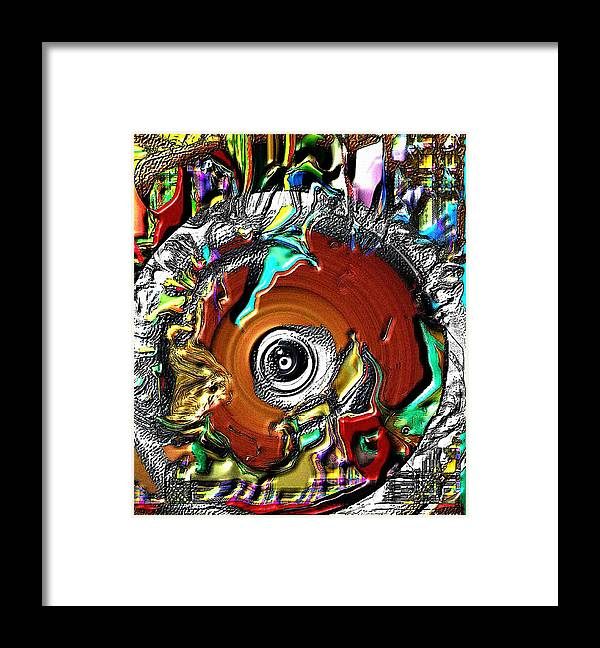 Abstract Framed Print featuring the digital art Disc by Dave Kwinter