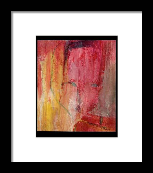 Abstract Framed Print featuring the painting Disconnected by Patricia Byron