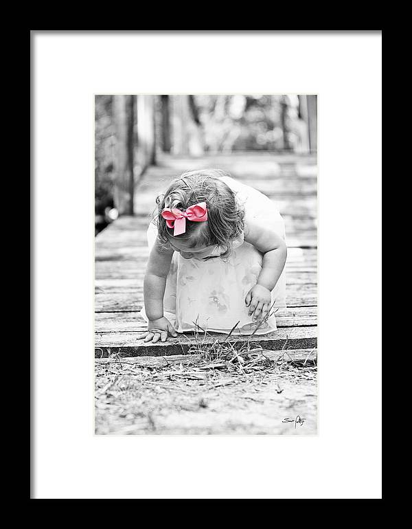 Child Framed Print featuring the photograph Discovery by Scott Pellegrin