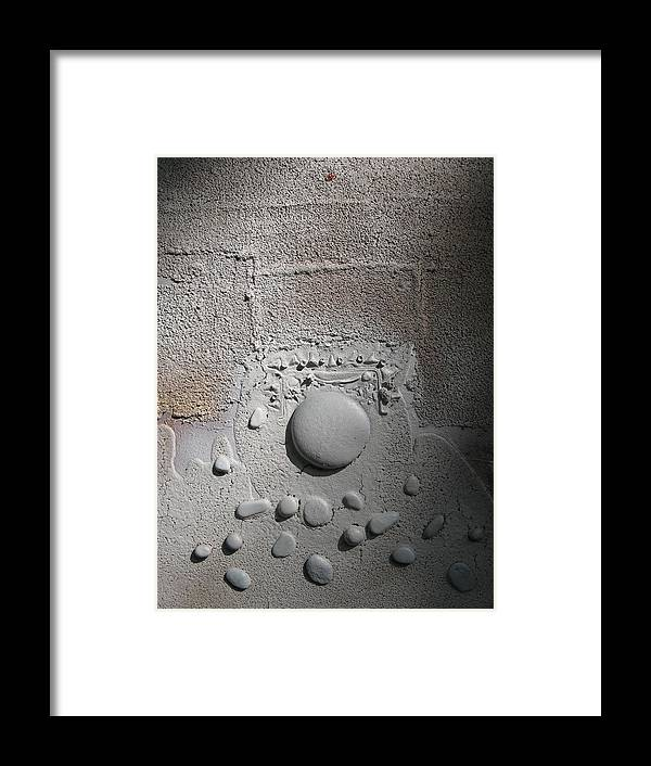 Stone Framed Print featuring the mixed media Discovery With White Stones by Gail Hinchen