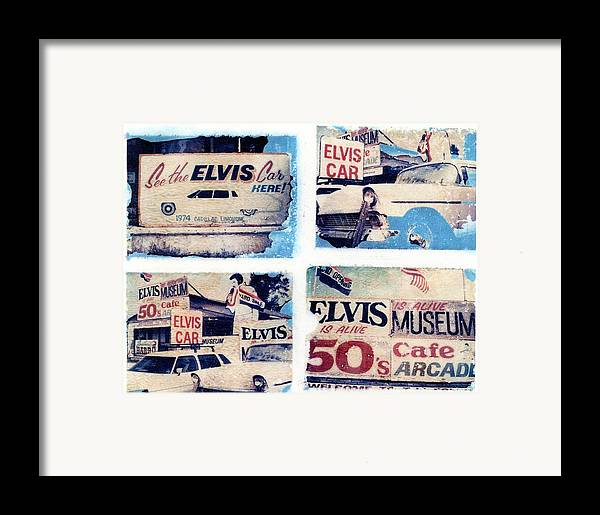 Elvis Framed Print featuring the photograph Disgraceland by Jane Linders