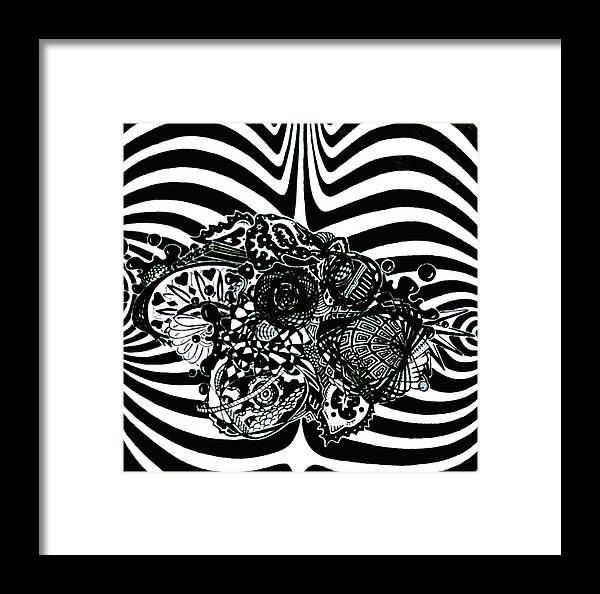 Pen And Ink Framed Print featuring the drawing Disquietude by Red Gevhere
