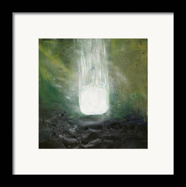 Acrylic Framed Print featuring the painting Dissolution by Cecilia August Sand