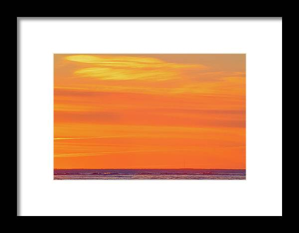 Abstract Framed Print featuring the photograph Distant Cell Towers At Sunrise  by Lyle Crump