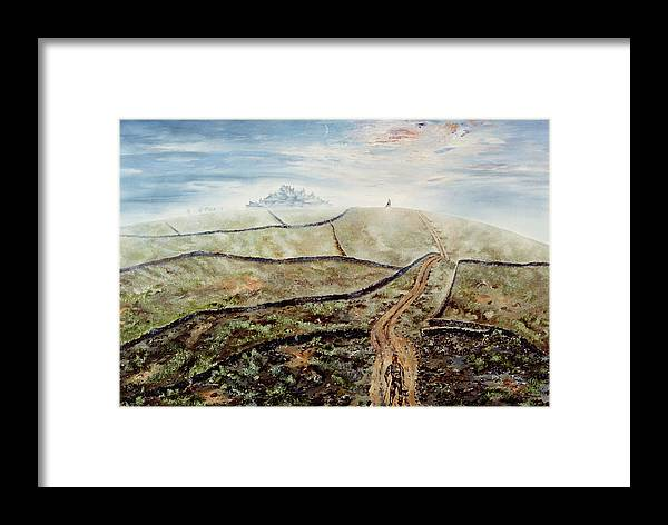 Walled City Framed Print featuring the painting Distant Journey by Richard Barham