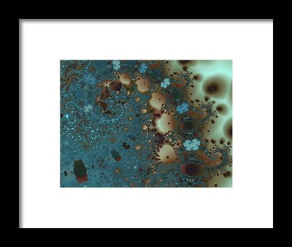 Fractal Framed Print featuring the digital art Distant Lands by Vicky Brago-Mitchell