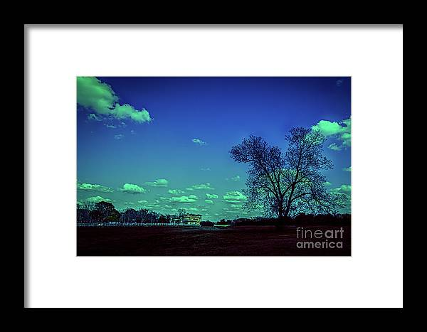 Landscape Framed Print featuring the photograph Distant Mansion by JB Thomas