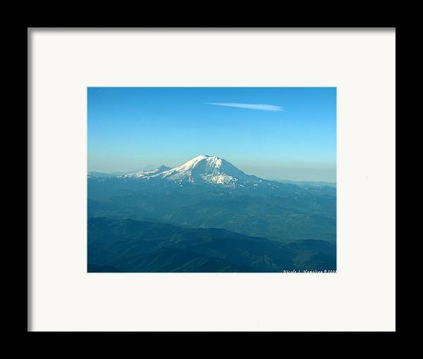 Mountain Framed Print featuring the photograph Distant Mountain by Nicole I Hamilton