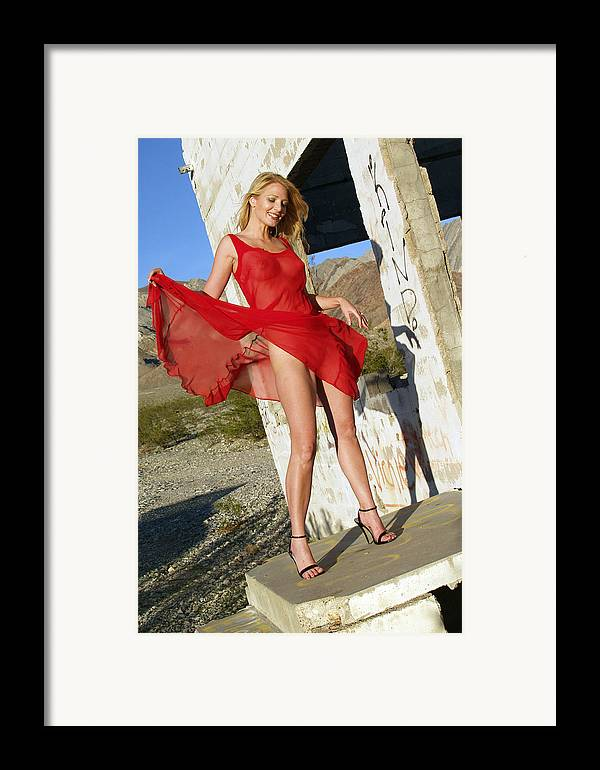 Woman Framed Print featuring the photograph Distinct Advantage by Michael Madrid