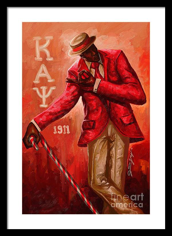 Distinguished Kappa Alpha Psi Framed Print By The Art Of Dionjay