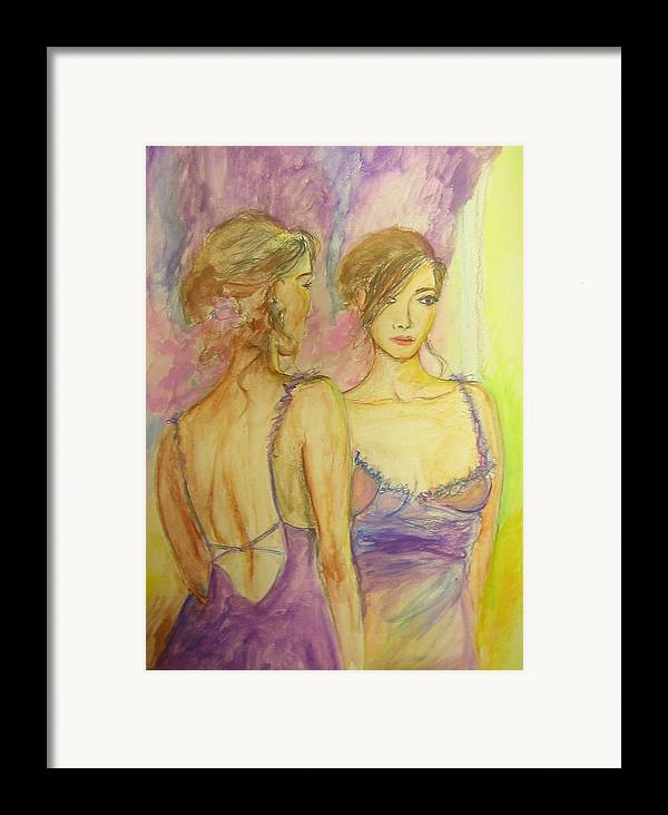 Feminine Framed Print featuring the painting Distracted by Lizzy Forrester