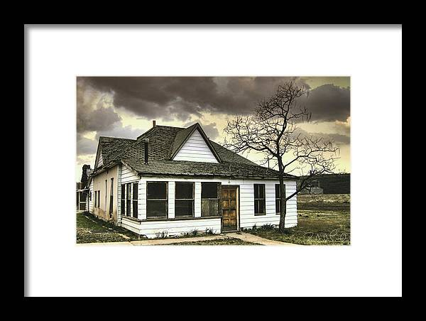 Clouds Framed Print featuring the photograph Distressed On Main Street by Robert Lantry