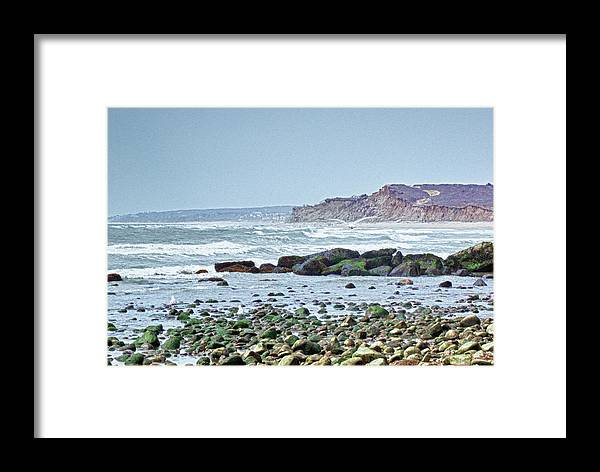 Ocean Framed Print featuring the photograph Ditch Plains Long Island by Linda Pulvermacher