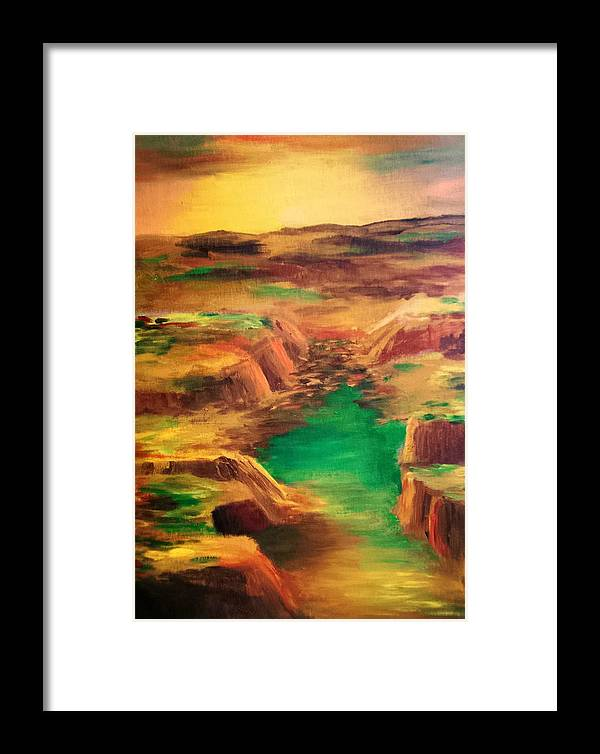 Water Framed Print featuring the painting Ditch by Vivian Mosley