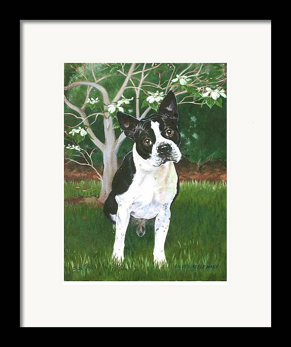 Portrait Framed Print featuring the painting Ditto by Eileen Hale