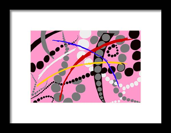 Abstract Framed Print featuring the digital art Ditty by Christopher Rowlands
