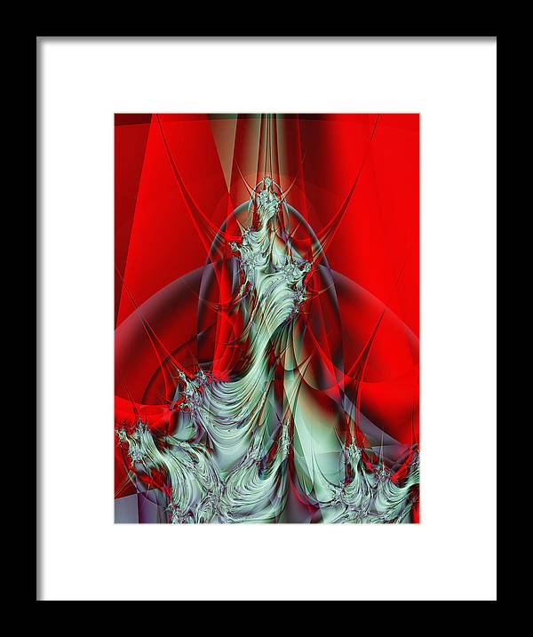 Fractal Framed Print featuring the digital art Diva by Frederic Durville
