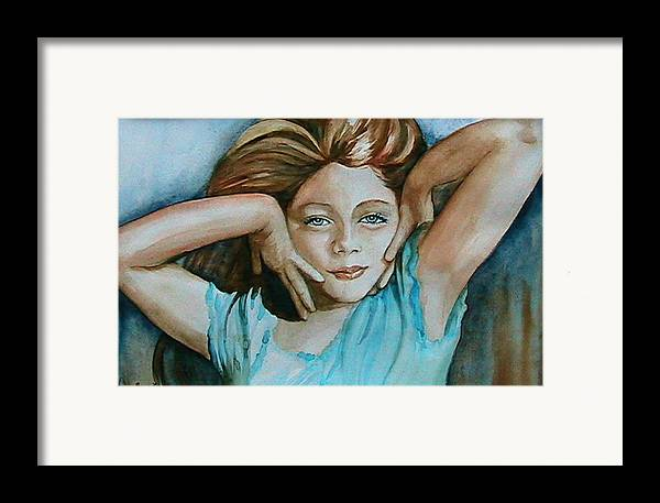 Portrait Commission Framed Print featuring the painting Diva by L Lauter