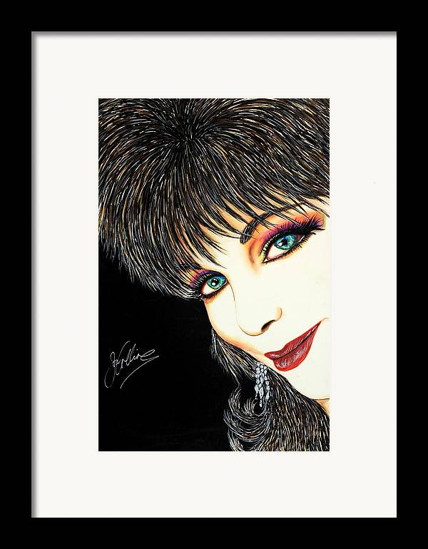 Actress Framed Print featuring the mixed media Diva Nasty by Joseph Lawrence Vasile