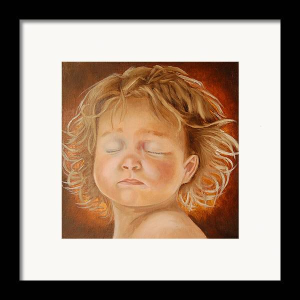 Girl Framed Print featuring the painting Diva by Sandra Butler