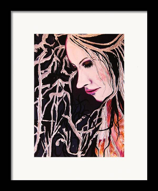 Diva Framed Print featuring the painting Diva Sarah by Meshal Hardie