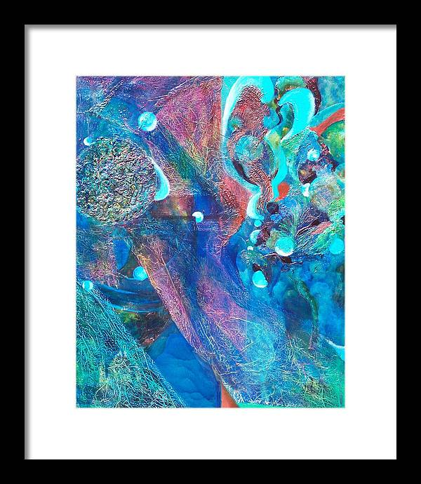Sea Landscape Framed Print featuring the print Diver by Meltem Quinlan
